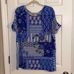 Honey and Lace Tustin Tunic, Size Large, NWT